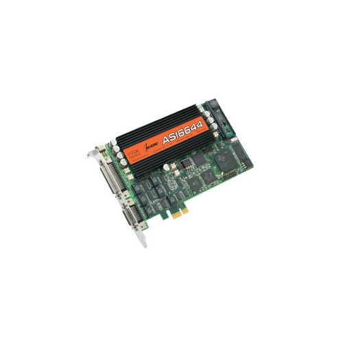ASI6644 Multistream PCI Express Sound Card - 4 record, 12 play / 4 out, Analogue & Digital, MPEG Layer 2/3/PCM
