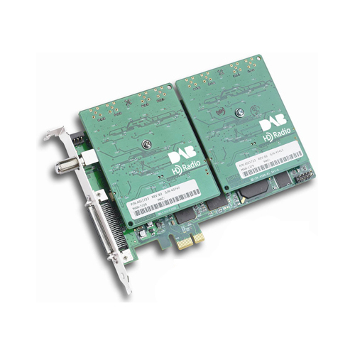 ASI8821-1100 - PCI Express 8 channels of HD-Radio/DAB/DAB+, 8 record PCM/Half length adapter