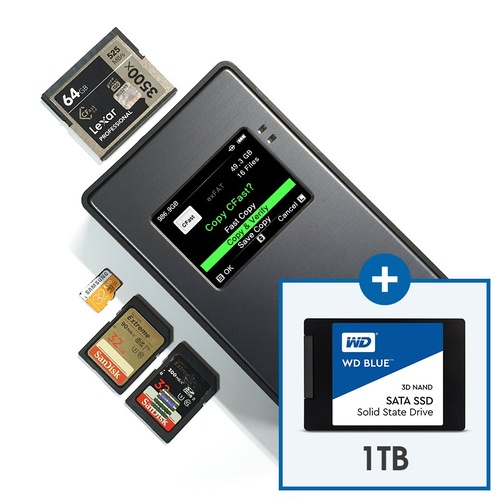 NPS-10_ XQD Card Type:  Portable All in One Backup Storage (1TB SSD Included)