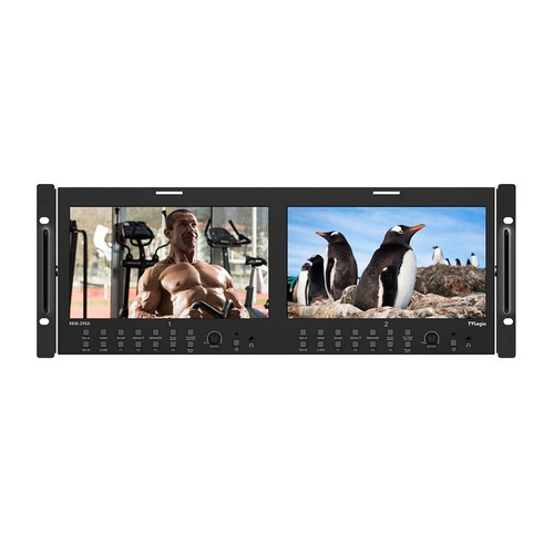 "RKM-290A - 2 x 9"" Panel HD/SD Multi-Channel LCD Rack Monitor"